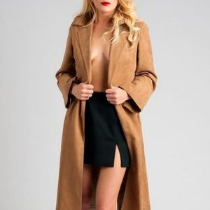 Jackets & Blazers - Vintage 1950s/60s suede trench coat.